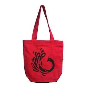Orange Bunch Red Canvas Handheld Bag