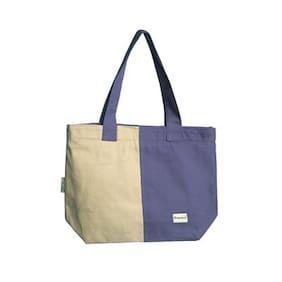 Orange Bunch Blue Canvas Shoulder Bag