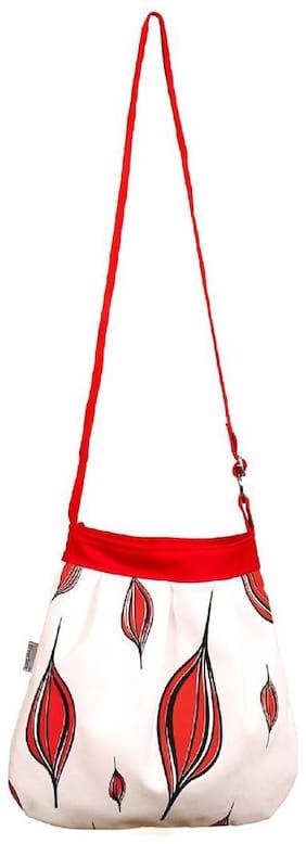 Orange Bunch Women Solid Canvas - Sling bag White