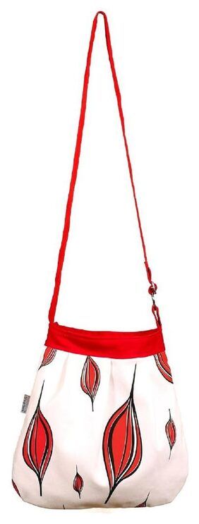 Orange Bunch Women Solid Canvas - Sling Bag White