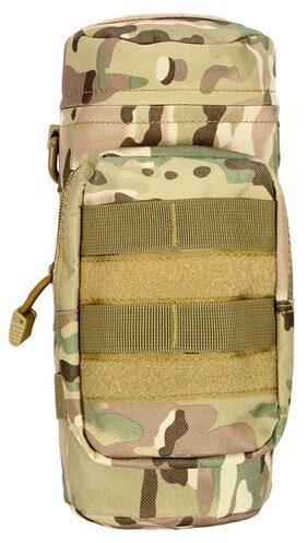 Outdoor Tactical Gear Military Molle Water Bottle Bag Kettle Pouch + Mess Pouch CP # International Bazaar