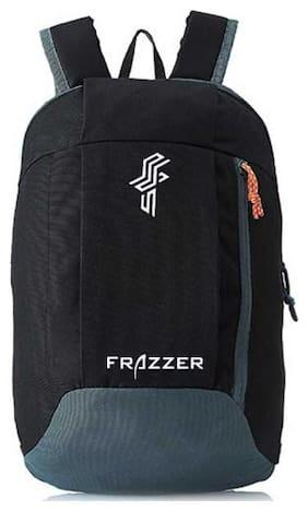Outdoor Travel Backpack For Hiking Camping Rucksack Black 15 L Laptop Backpack  (Black, Grey)