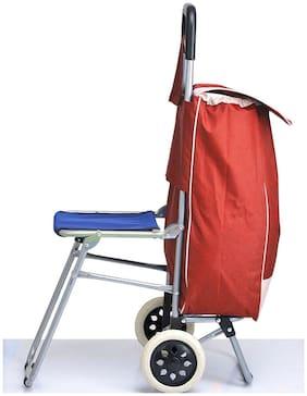 PAFFY Medium Size Soft Luggage Bag ( Red , 2 Wheels )