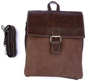 Palaki Brown Leather Side Bag For Men - (J.Brown Bag)