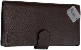 Palaki Women Brown Leather Clutch