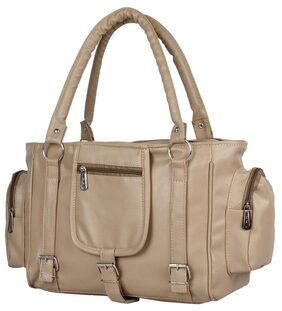 Paras Fashion Women Faux Leather Others Handheld Bag - Beige