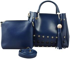 PENSTEMON PU Women Handheld Bag - Blue