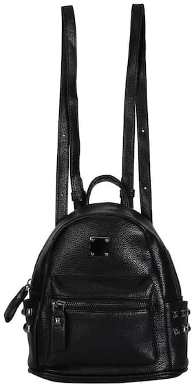 People Black PU Backpack