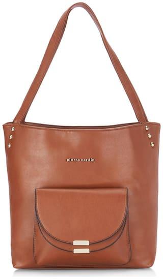 Pierre Cardin Women Solid PU - Tote Bag Maroon