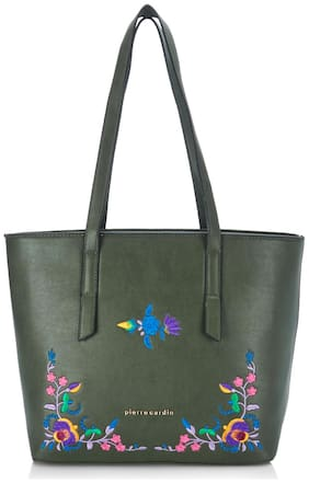 Pierre Cardin Women Printed PU - Tote Bag Green