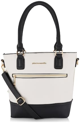 Pierre Cardin Women Solid PU - Tote Bag White