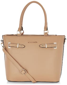 Pierre Cardin Women Solid PU - Tote Bag Tan