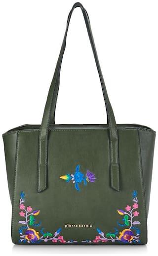 Pierre Cardin Women Printed PU - Tote Bag Green