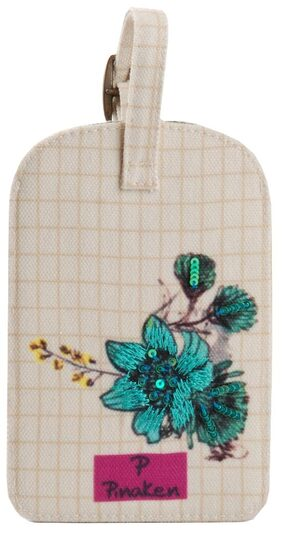 Pinaken Blossom Embroidered & Embellished Multicolor Luggage Tag
