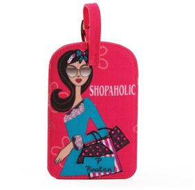Pinaken Shopaholic Embroidered & Embellished Multicolor Luggage Tag