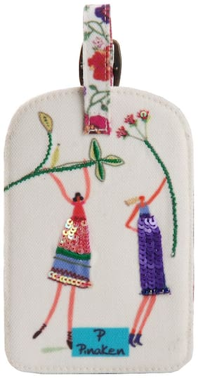 Pinaken The Glee Girls Embroidered & Embellished Multicolor Luggage Tag