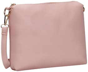 Women Solid Pu - Sling Bag Pink