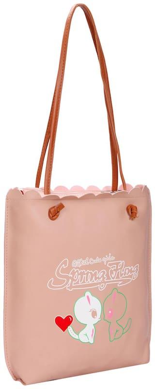 Women Solid Pu - Tote Bag Pink