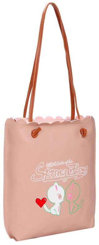 Pink PU Tote Bag