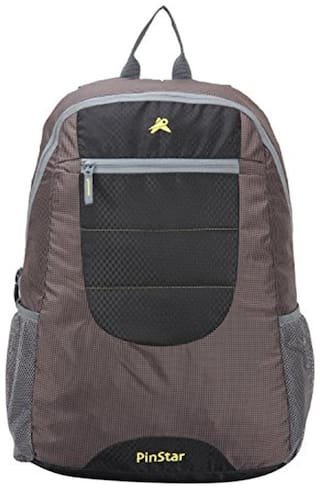 Pinstar Brown Polyester Backpack