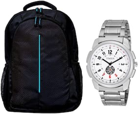 PLAYY BAGS Combo pack of laptop bags and watch Waterproof Laptop Backpack