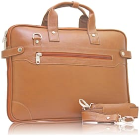 POLLSTAR Expandable Premium Leather office Bag (MB9999TN)