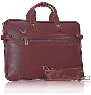 9ca78ae65ca7 Buy POLLSTAR Expandable Premium Leather office Bag (MB9999BN) Online ...