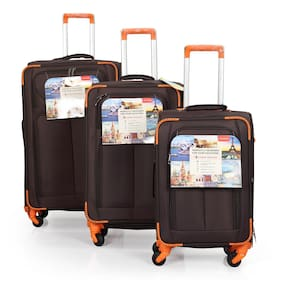 Polo Class LT-1094 Large Size Luggage Set ( Brown , 4 Wheels )