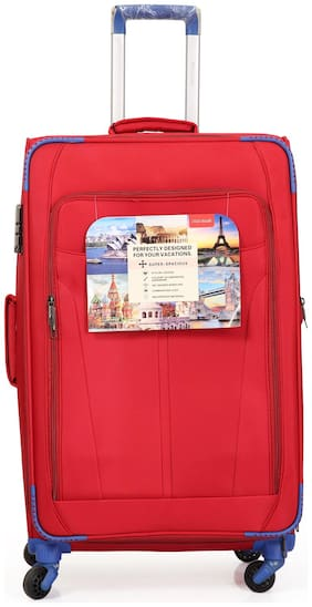 Polo Class LT-1145 Large Size Luggage Set ( Red , 4 Wheels )