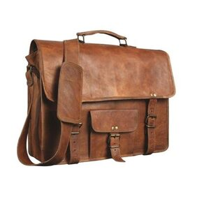 pranjals house Leather Unisex Real Leather Messenger Bag for Laptop Briefcase Satchel