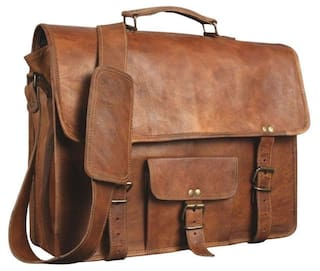 52e4e21e242 pranjals house Leather Unisex Real Leather 10 13inch Messenger Bag for Laptop  Briefcase Satchel