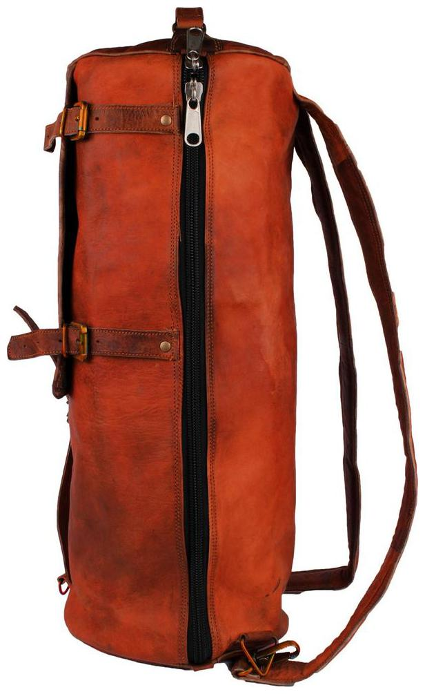 pranjals house leather duffle bag cum backpack