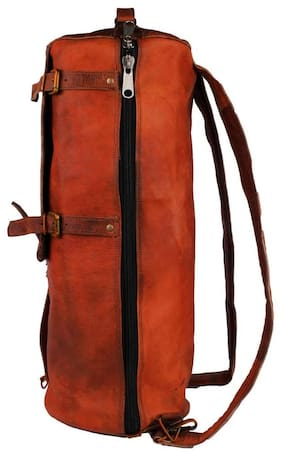 7387fd0089 pranjals house leather duffle bag cum backpack