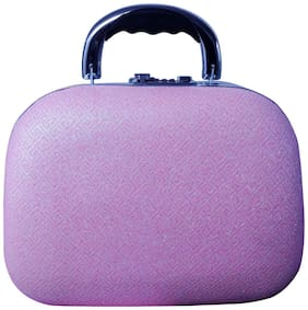 PRIDE STAR Women Faux Leather Vanity Case - Pink