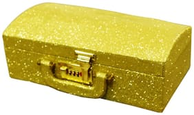 PRIDE STAR Women Faux Leather Vanity Case - Yellow