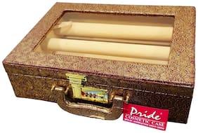 PRIDE STAR Women Canvas Vanity Case - Yellow