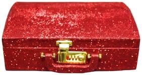 PRIDE STAR Women Canvas Vanity Case - Red