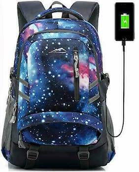 ProEtrade Backpack Bookbag for School College Student Travel Business Galaxy