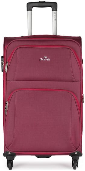 Pronto Cabin Size Soft Luggage Bag ( Red , 4 Wheels )