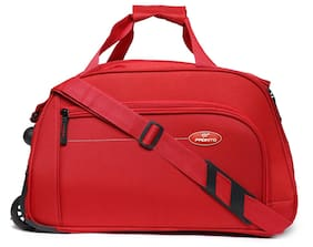 Pronto Polyester Men Duffle Bag - Red