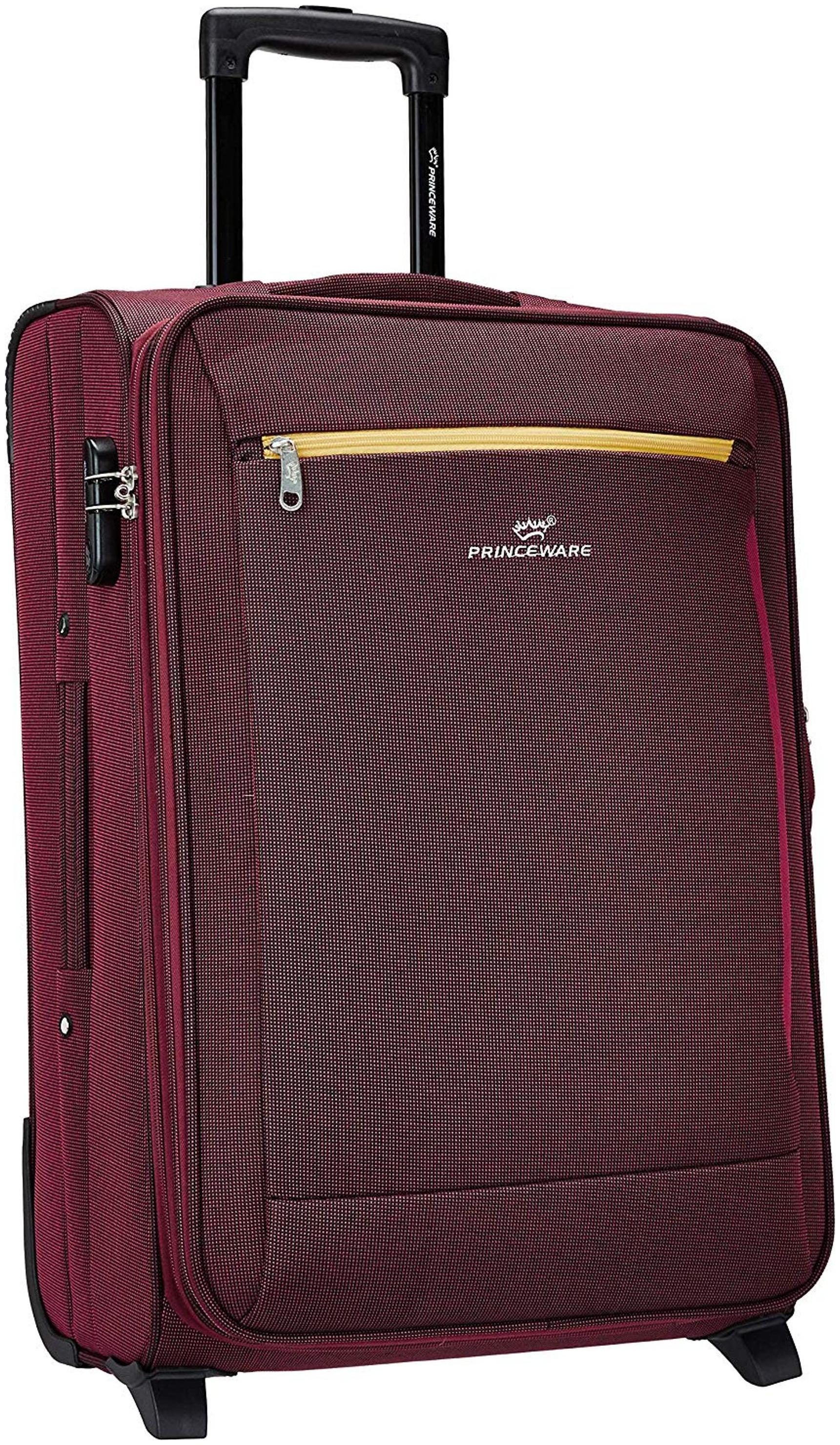 Pronto Cabin Size Soft Luggage Bag   Red , 2 Wheels