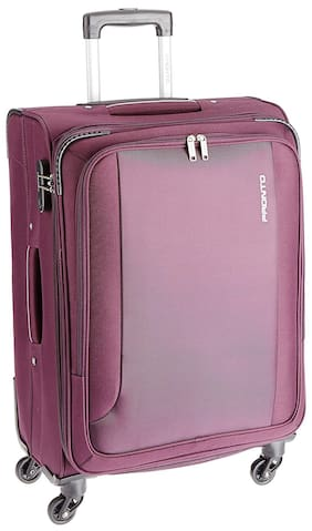 fb9297503 Pronto Cabin Size Soft Luggage Bag - Purple , 4 Wheels