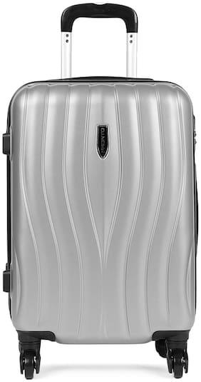 Pronto Cabin Size Hard Luggage Bag ( Silver , 4 Wheels )