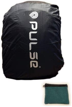 Pulse Heavy Duty Stretchable Elastic Black RAIN Cover (DUST Cover) with Portable Storage Pouch