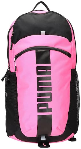 Puma Pink Polyester Backpack