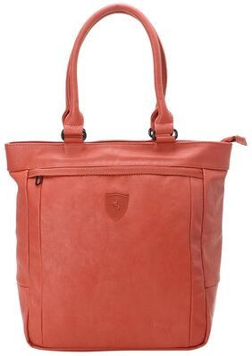 Puma Women Faux Leather Handheld Bag - Red