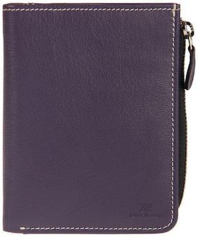 Aditi Wasan Women Purple Leather Wallet