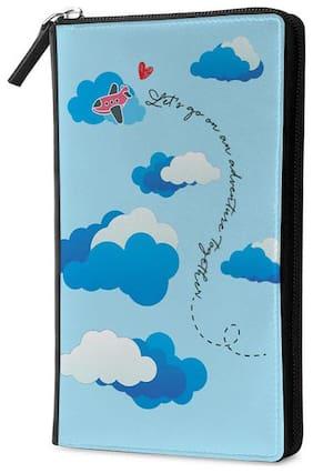 Qrioh Adventure Cloud Travel Multi Passport Holder Zipper Wallet