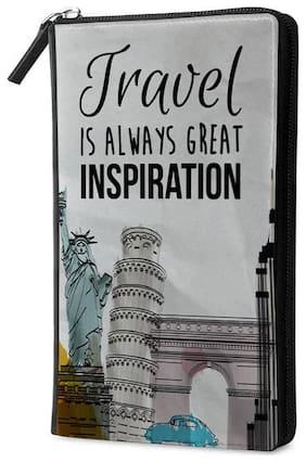 Qrioh Inspiration Travel Multi Passport Holder Zipper Wallet