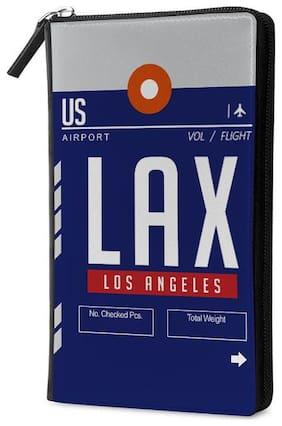 Qrioh LAX Travel Multi Passport Holder Zipper Wallet
